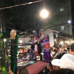 시바공원 상점가 시바마츠리의 레슬링이벤트